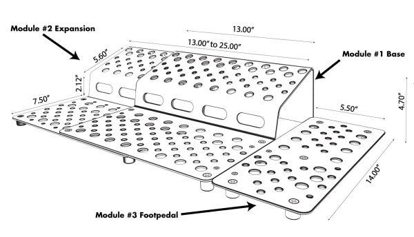 Holeyboard Dimensions