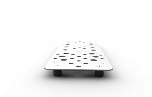 Holeyboard 3 Footpedal Module - Silver & Gold