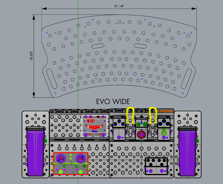 Evo Wide vs Holeyboard 123